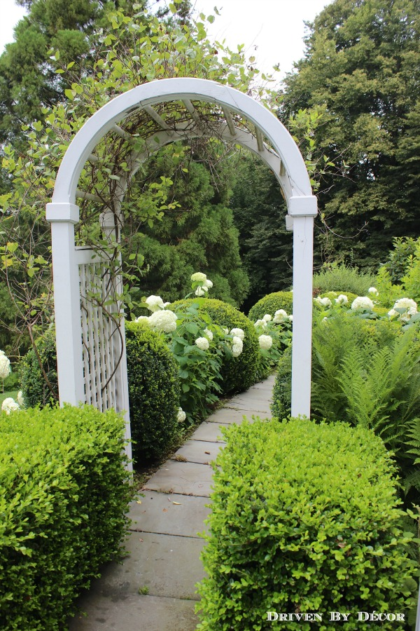 Arbor covering our front walkway
