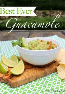 Best Ever Guacamole Recipe!