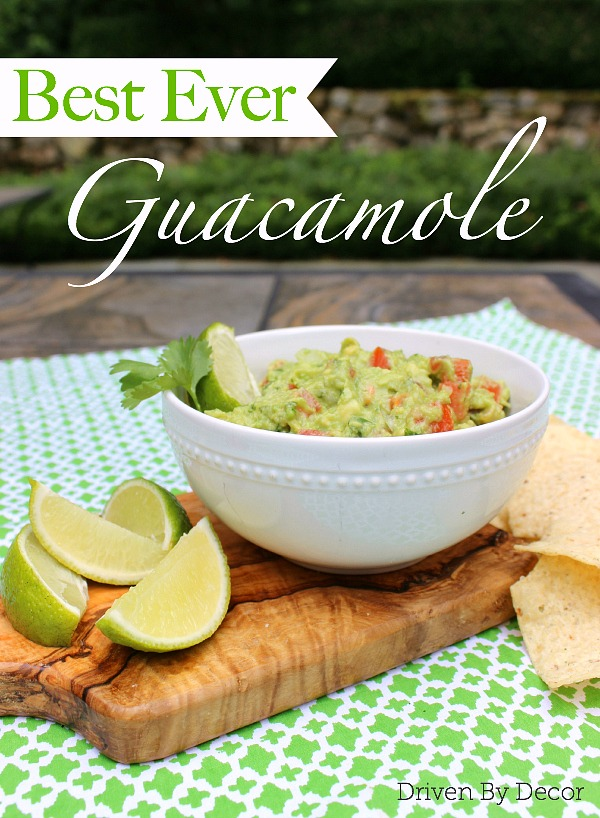 The BEST simple fresh guacamole recipe!