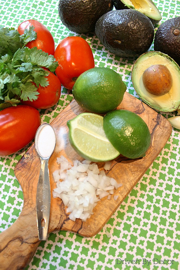 Ingredients for fresh guacamole!