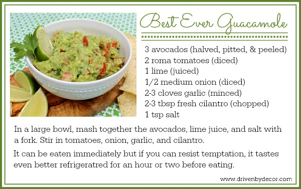 Recipe to make the most delicious guacamole - so simple and tastes so deliciously fresh!