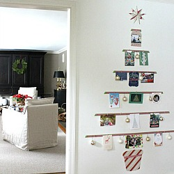 Christmas Card Tree Display