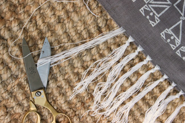 Cut loops making fringe