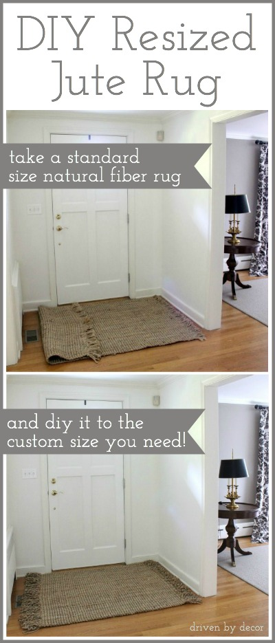 DIY Resized Jute Rug