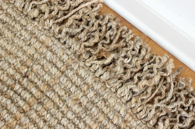 Driven by Decor - Curly fringe on jute rug