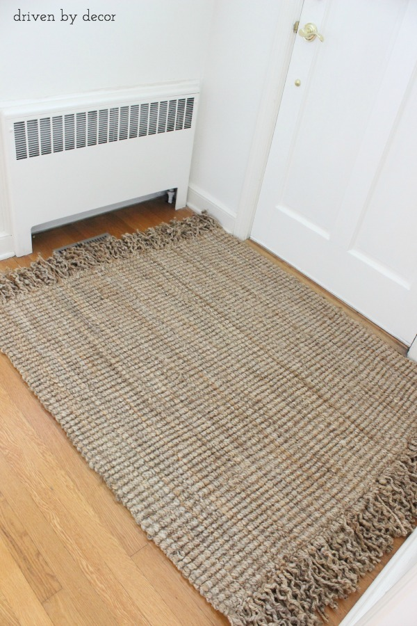 Diy Resized Jute Rug From Standard To Custom Driven