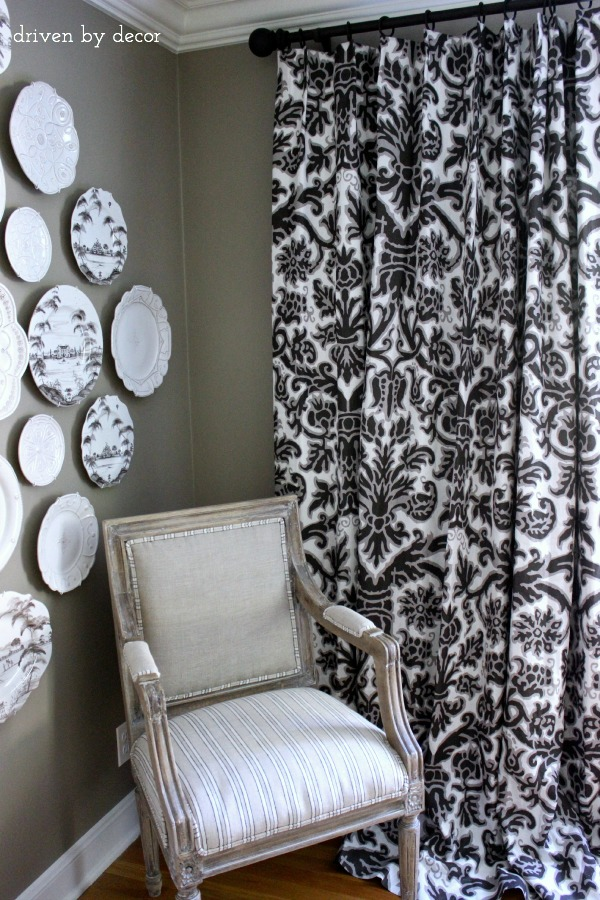 Driven by Decor - Gray and White Dining Room Drapes