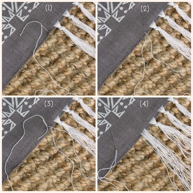 How to add fringe with embroidery floss