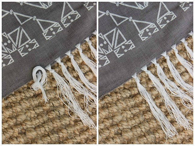 How to tie fringe knot
