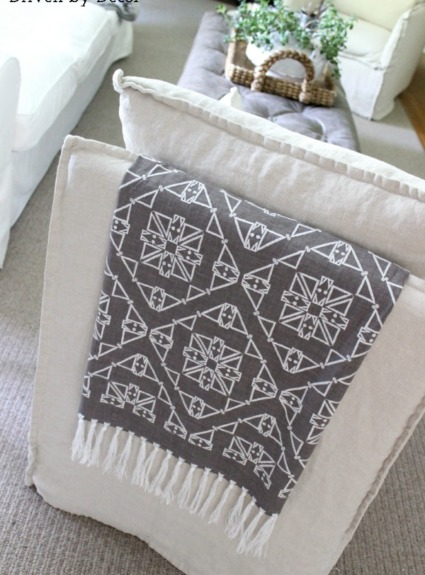 Boring Chair Backs No More! Adding Color and Pattern with a Simple DIY