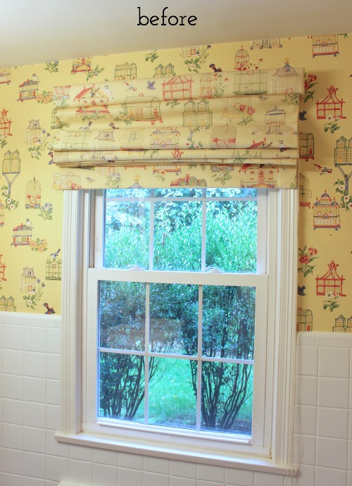 Before pic of bathroom window