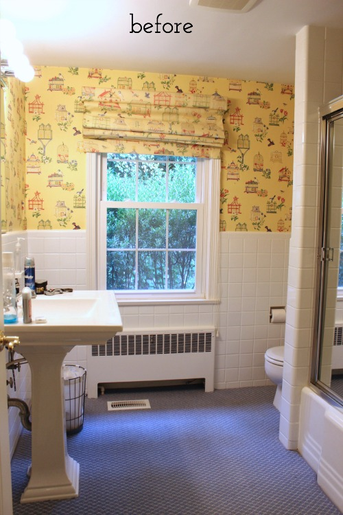 Our bathroom before our makeover!