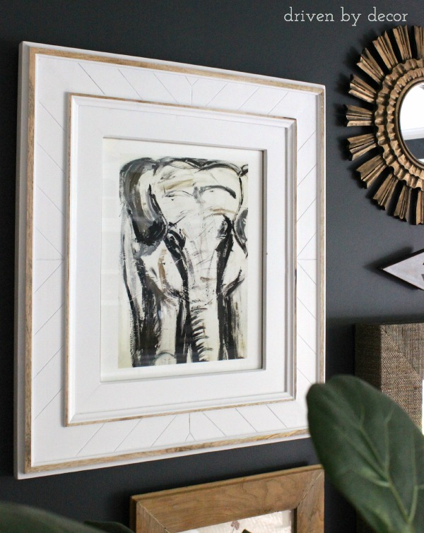 Driven By Decor - Elephant Print From Minted and Frame From Pottery Barn