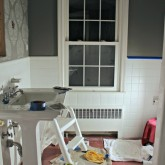 Driven by Decor - Bathroom remodel in progress
