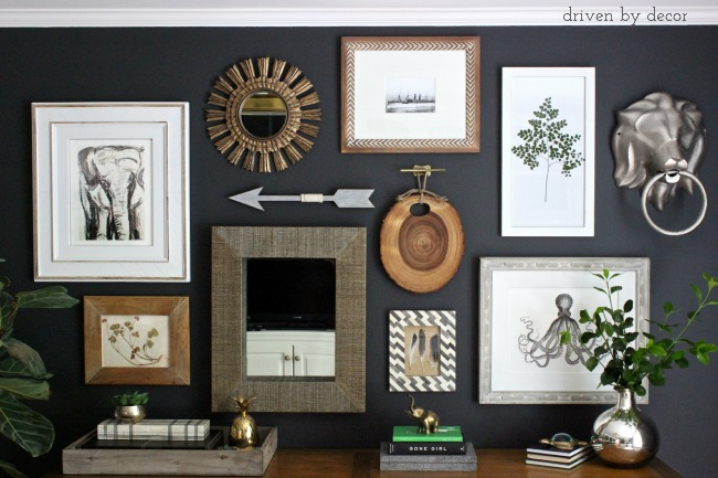 Driven by Decor - Eclectic Home Office Gallery Wall
