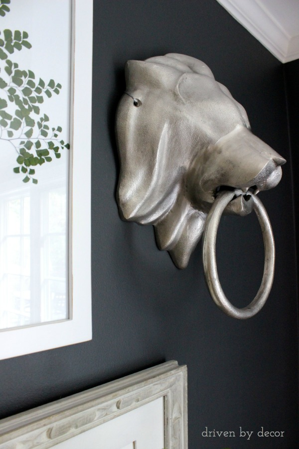Driven by Decor - Silver Lion's Head Knocker