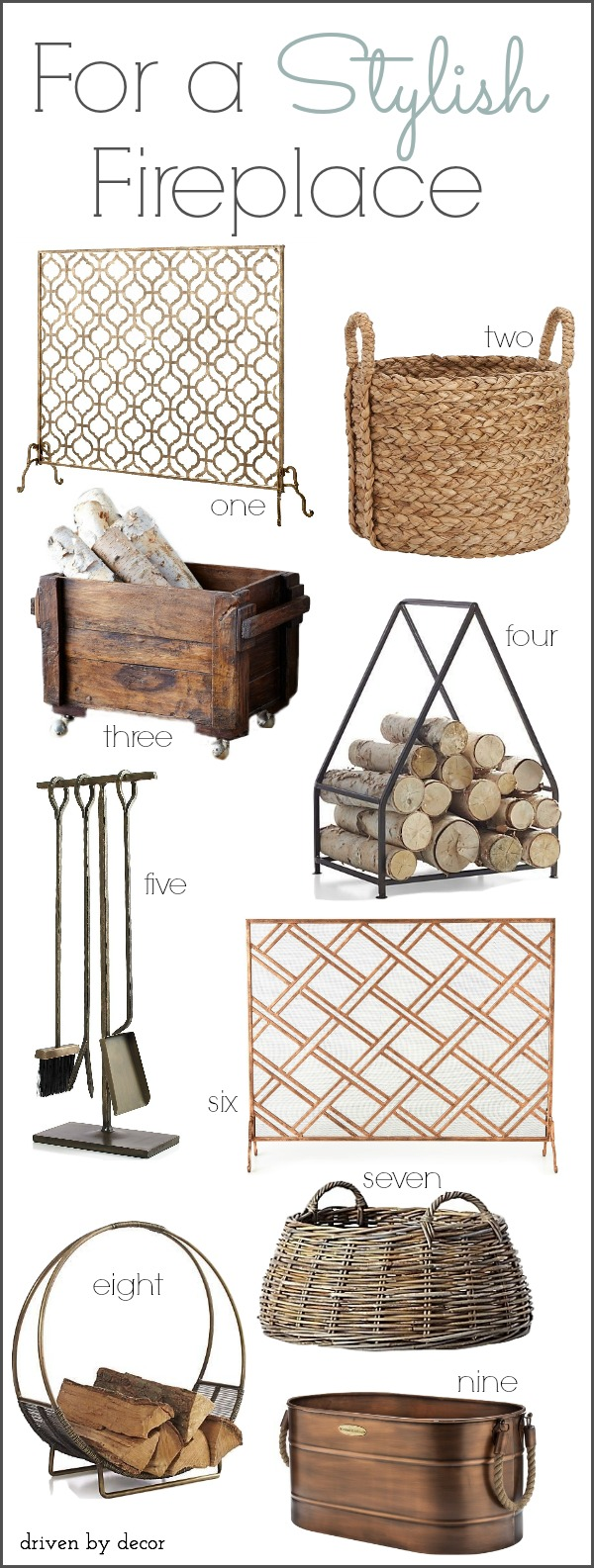 Stylish Fireplace Accessories Driven By Decor