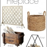 Cropped Accessories for a Stylish Fireplace (Fireplace Screens, Log Holders, & Tools)