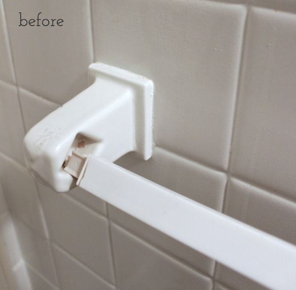 Driven by Decor - Before Image of Old Towel Bar