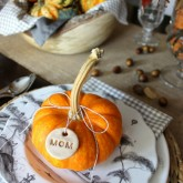 Driven by Decor - Homemade salt dough tags for Thanksgiving placesetting