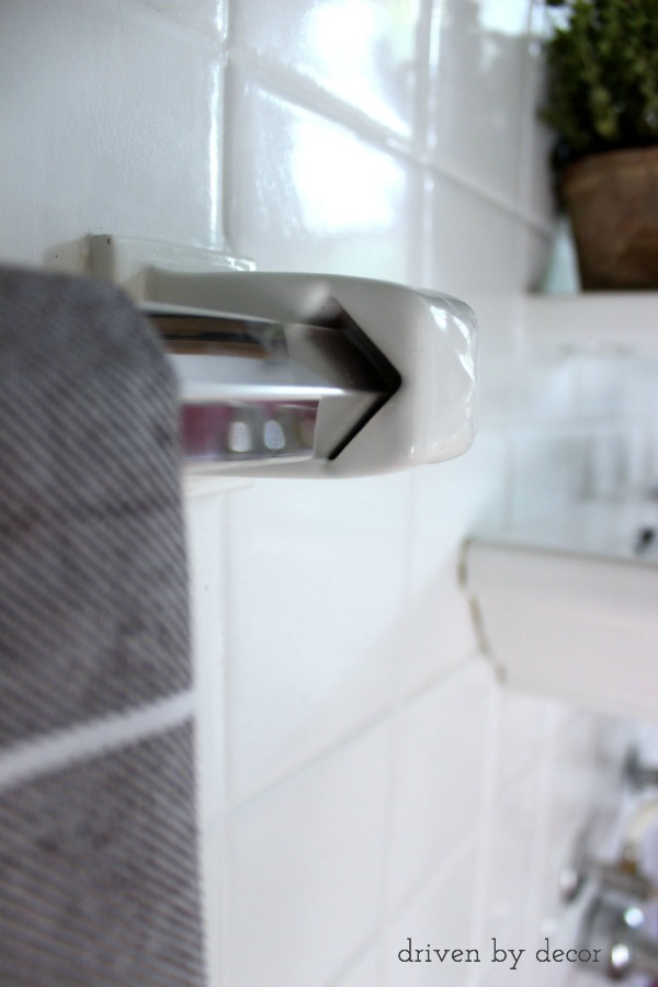 How To Replace A Towel Bar With Fixed Ceramic Ends
