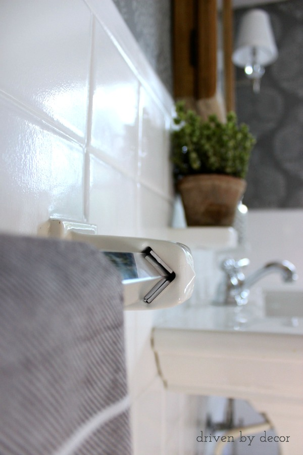 Driven by Decor - Insert foam pieces to keep towel bar from moving