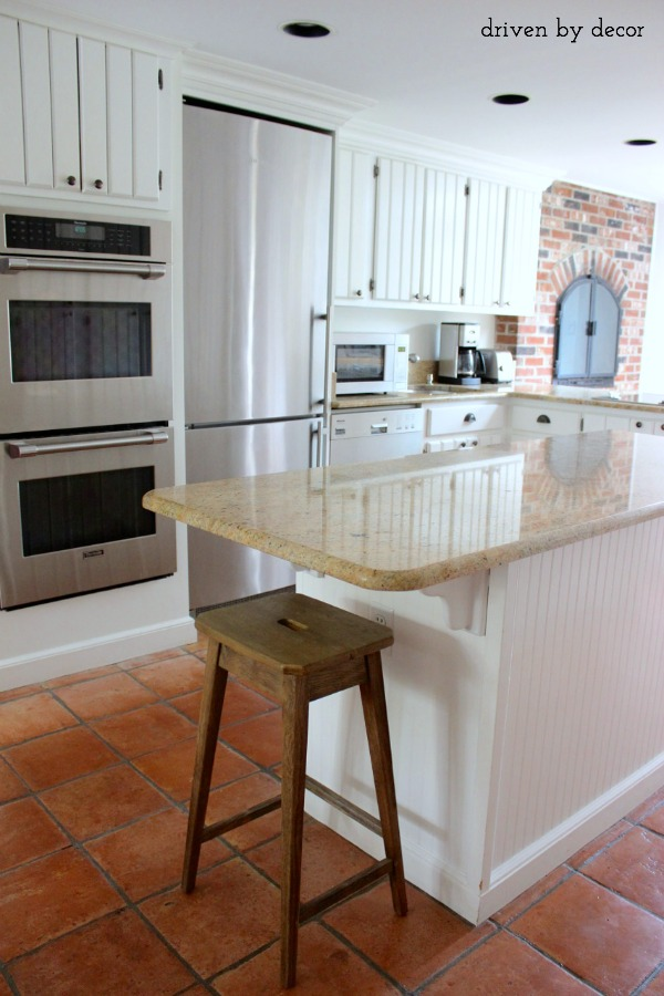 Driven by Decor - Kitchen Island with Barstool at End