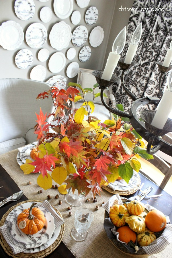 Driven by Decor - Simple Thanksgiving table