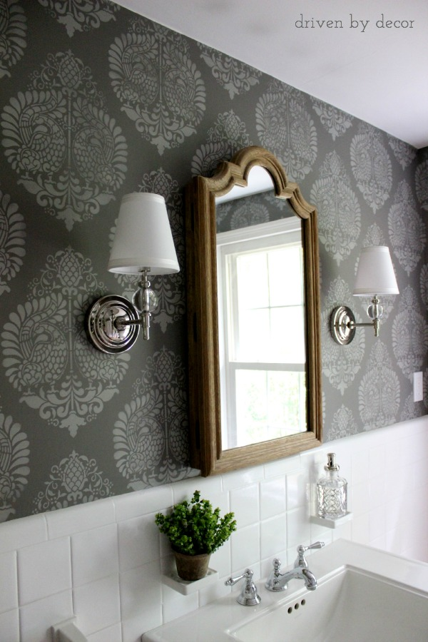 Driven by Decor - Stenciled wall with Royal Design stencil