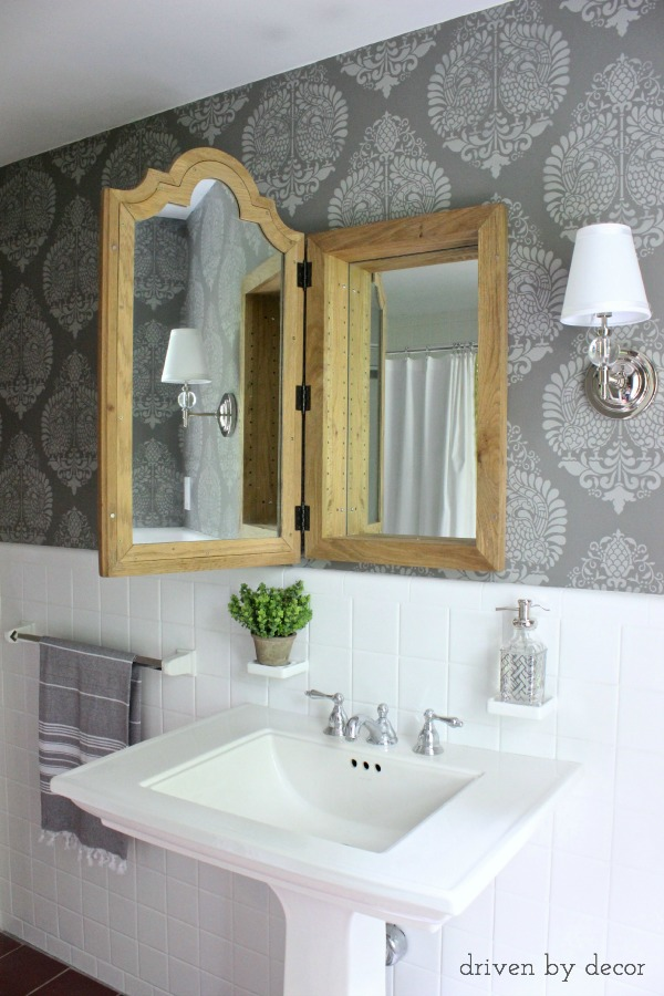 Driven by Decor - Whitby mirrored medicine cabinet