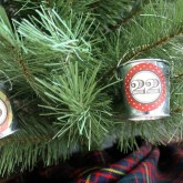 Mini Galvanized Pails Hung from a Small Christmas Tree - great advent calendar!