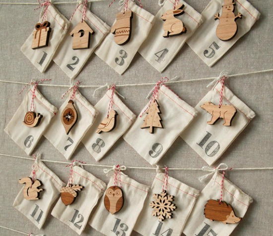 Woodland Ornament Advent Calendar