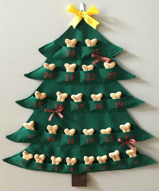 So super cute! A dog advent calendar with a bone a day!