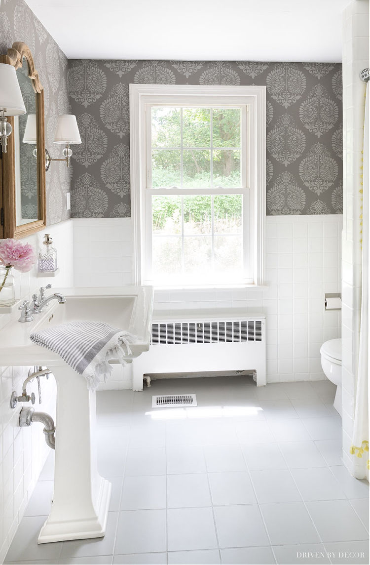 """Our powder room makeover - the """"before"""" and """"after"""""""