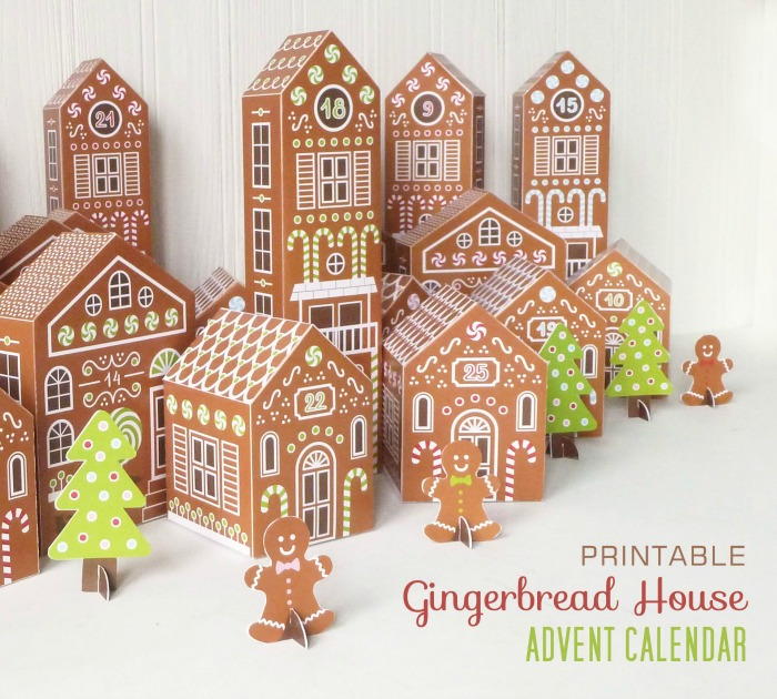 Printable gingerbread house advent calendar - great craft activity for kids!