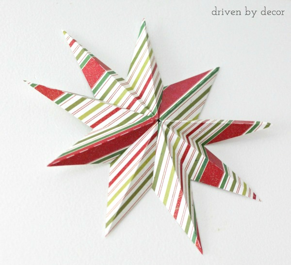 3-D Paper Star as DIY Christmas Tree Topper