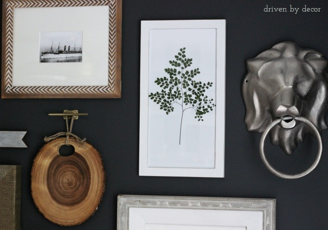 DIY botanical art as part of gallery wall