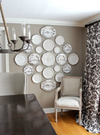 A New Decorative Plate Wall in Our Dining Room