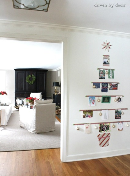 Displaying Cards with a DIY Christmas Card Tree