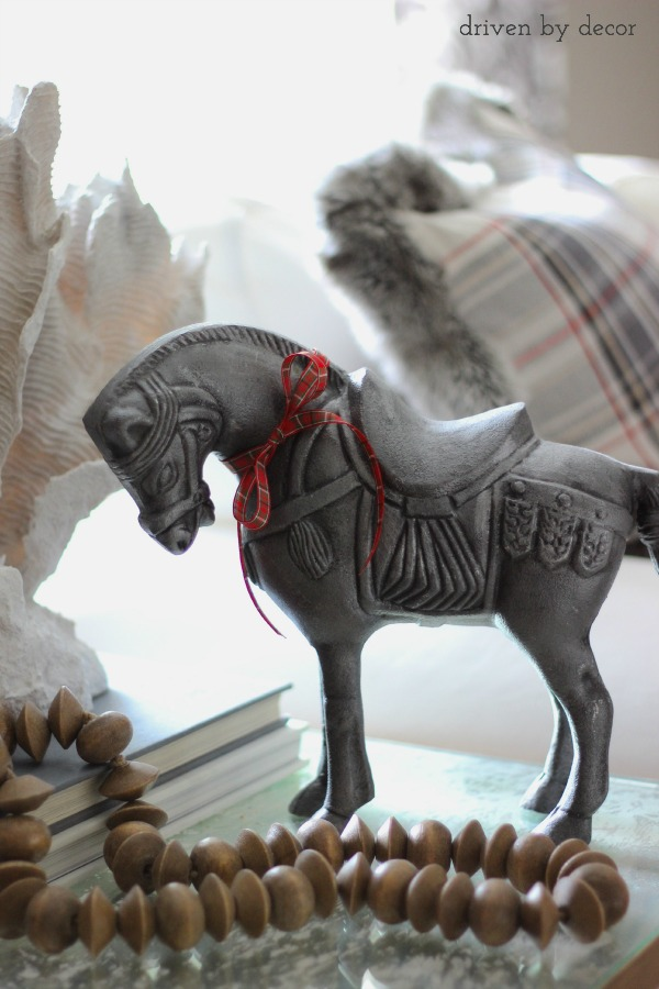 Driven by Decor - Love this decorative horse from HomeGoods!