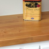 Butcher block countertops finished with Waterlox