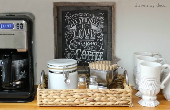 Cute home coffee bar