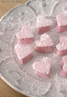 Homemade Marshmallow Valentine Hearts