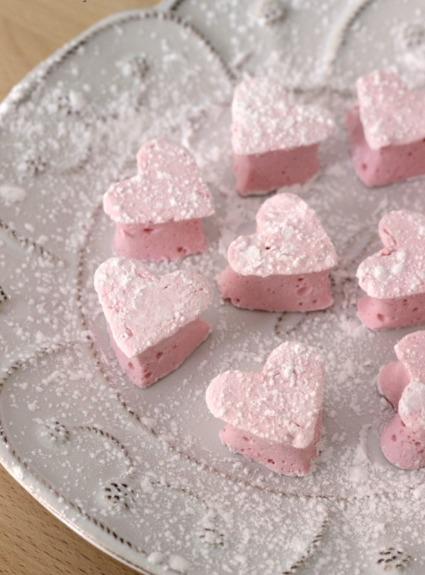 Homemade Marshmallow Valentine Hearts