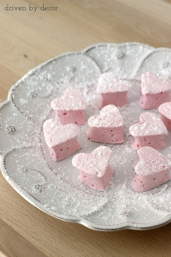 Heart marshmallows - delicious and pretty easy to make!