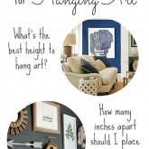 Rule of Thumb Measurements for Hanging Art Featured
