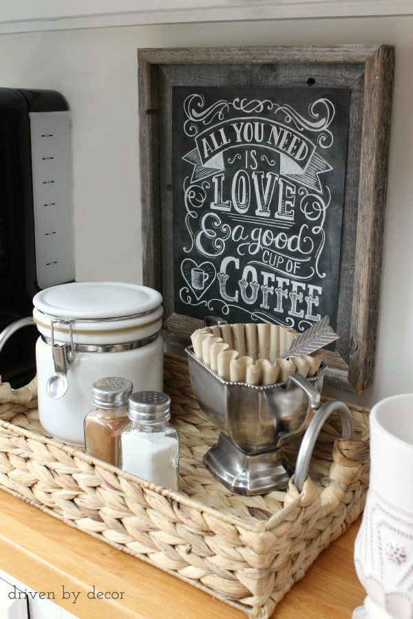 Simple DIY Home Coffee Station