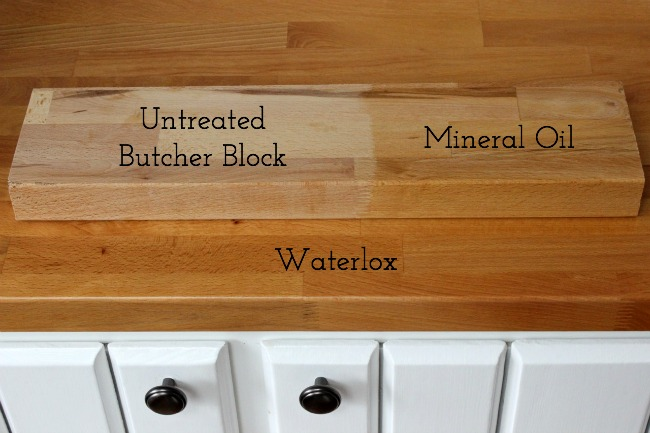 Waterlox vs. mineral oil for treating butcher block countertops