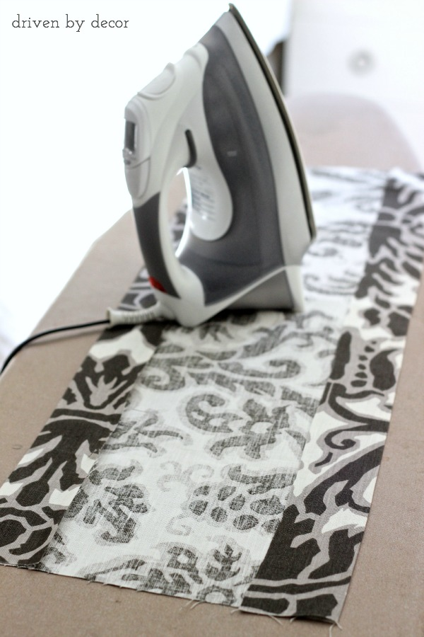 First step for dressing up your pillows - iron the fabric