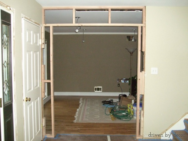 Framing out a standard doorway before adding decorative molding